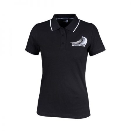 ETNZ Women's Supporter Polo Black