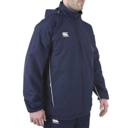 Team Full Zip Rain Jacket- Navy