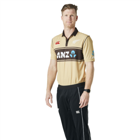 Blackcaps Kids Retro Beige T20 Shirt
